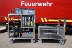 55/1 Rollcontainer Wasserschaden und Gitterwagen
